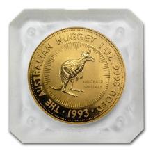 One 1993 Australia 1 oz Gold Nugget BU - WJA66363