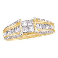 14K Yellow Gold Jewelry 1.0 ctw Diamond Ladies Ring - GD#22584 - REF#X87R6