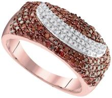 10K Rose Gold Jewelry 0.75 ctw White Diamond & Cognac Diamond Ladies Ring - GD#95160 - REF#T34G8