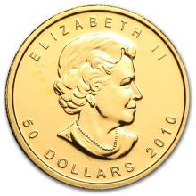 One 2010 Canada 1 oz Gold Maple Leaf BU - WJA56410
