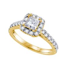 14K Yellow Gold Jewelry 1.0 ctw Diamond Bridal Ring - GD#70221 - REF#U126K1