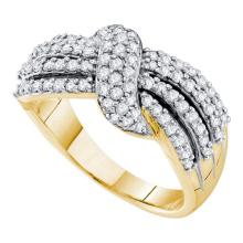 14K Yellow Gold Jewelry 0.78 ctw Diamond Ladies Ring - GD#30340 - REF#R72F1