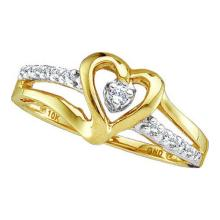 10K Yellow Gold Jewelry 0.12 ctw Diamond Ladies Ring - GD#35436 - REF#G15V6
