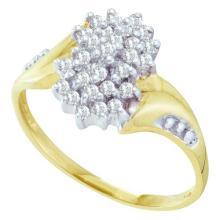 10K Yellow Gold Jewelry 0.25 ctw Diamond Ladies Ring - GD#7985 - REF#M13U3
