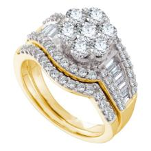 14K Yellow Gold Jewelry 2.0 ctw Diamond Bridal Ring Set - GD#44425 - REF#N180Y1