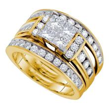 14K Yellow Gold Jewelry 2.0 ctw Diamond Bridal Ring Set - GD#38833 - REF#Z216W1