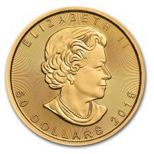 One 2015 Canada 1 oz Gold Maple Leaf BU - WJA84889