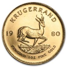 One 1980 South Africa 1 oz Gold Krugerrand - WJA88140