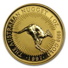 One 1997 Australia 1 oz Gold Nugget BU - WJA66876