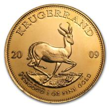 One 2009 South Africa 1 oz Gold Krugerrand - WJA47755