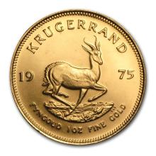 One 1975 South Africa 1 oz Gold Krugerrand - WJA75213