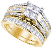 Natural 1.85 ctw Diamond Bridal Set Ring 14K Yellow Gold - GD83046-REF#278Z9Y