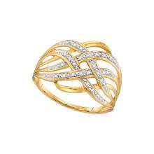 Genuine 0.05 CTW Diamond Ladies Ring 10KT Yellow Gold - GD107979-REF#12A5X