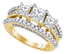 Natural 2.25 ctw Diamond Bridal Set Ring 14K Yellow Gold - GD81166-REF#530R9K