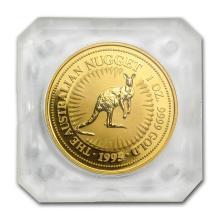 One 1995 Australia 1 oz Gold Nugget BU - WJA81135