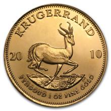 One 2010 South Africa 1 oz Gold Krugerrand - WJA57268