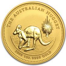 One 2005 Australia 1 oz Gold Nugget BU - WJA79074