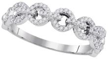 10K White Gold Jewelry 0.25 ctw Diamond Ladies Ring - GD#98430 - REF#M19U3