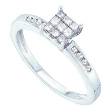 14K White Gold Jewelry 0.25 ctw Diamond Ladies Ring - GD#21906 - REF#F27X7