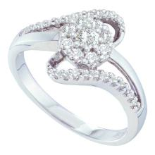 14K White Gold Jewelry 0.50 ctw Diamond Ladies Ring - GD#39439 - REF#Z42W1