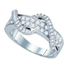 10K White Gold Jewelry 0.78 ctw Diamond Ladies Ring - GD#80072 - REF#T60G1