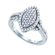 10K White Gold Jewelry 0.52 ctw Diamond Ladies Ring - GD#71519 - REF#U42K1