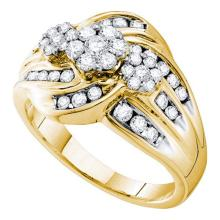 14K Yellow Gold Jewelry 1.01 ctw Diamond Ladies Ring - GD#53791 - REF#W90N1