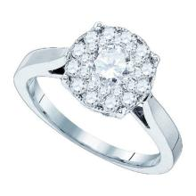 14K White Gold Jewelry 0.28 ctw Diamond Bridal Ring - GD#82913 - REF#X45R7
