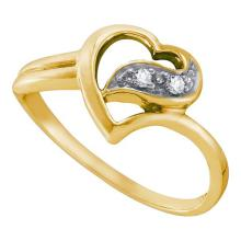 14K Yellow Gold Jewelry 0.04 ctw Diamond Ladies Ring - GD#39679 - REF#N15Y6