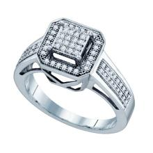 10K White Gold Jewelry 0.25 ctw Diamond Ladies Ring - GD#57699 - REF#X25R2