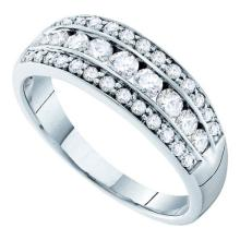 14K White Gold Jewelry 0.72 ctw Diamond Ladies Ring - GD#26217 - REF#T72G1