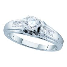 14K White Gold Jewelry 0.66 ctw Diamond Bridal Ring - GD#45432 - REF#X102R1