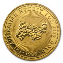 One 1988 Australia 1 oz Gold Nugget BU - WJA85477