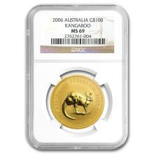 One 2006 Australia 1 oz Gold Nugget MS-69 NGC - WJA87756