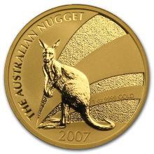 One 2007 Australia 1 oz Gold Nugget BU - WJA18501