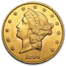 One $20 Liberty Gold Double Eagle AU (Random Years) - WJA1121
