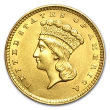 One $1 Indian Head Gold Type 3 AU (Random Years) - WJA23231