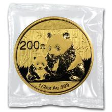 One 2012 China 1/2 oz Gold Panda BU (Sealed) - WJA65584