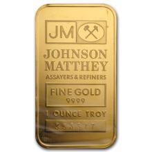 One 1 oz Gold Bar - Johnson Matthey - WJA52938
