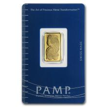 One 5 gram Gold Bar - Pamp Suisse Lady Fortuna (In Assay) - WJA19043