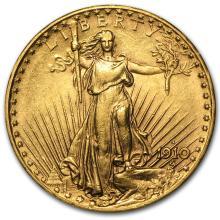 One $20 Saint-Gaudens Gold Double Eagle AU (Random Years) - WJA1122