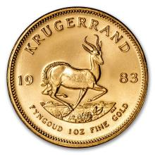 One 1983 South Africa 1 oz Gold Krugerrand - WJA88134