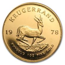One 1978 South Africa 1 oz Gold Krugerrand - WJA23734