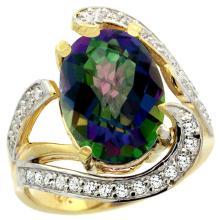 Natural 6.22 ctw mystic-topaz & Diamond Engagement Ring 14K Yellow Gold - SC#R308101Y08 - REF#U102K1
