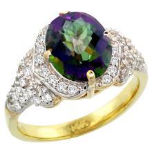 Natural 2.92 ctw mystic-topaz & Diamond Engagement Ring 14K Yellow Gold - SC#R183071Y08 - REF#G77V4