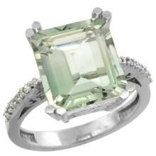 Natural 5.48 ctw amethyst & Diamond Engagement Ring 10K White Gold - SC#CW902141 - REF#G29V9
