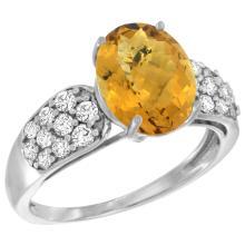 Natural 2.75 ctw quartz & Diamond Engagement Ring 14K White Gold - SC#R289771W26 - REF#T43G6