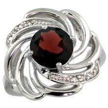 Natural 2.25 ctw garnet & Diamond Engagement Ring 14K White Gold - SC#R297241W10 - REF#X44R5