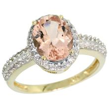 Natural 1.86 ctw Morganite & Diamond Engagement Ring 14K Yellow Gold - SC#CY413139 - REF#A37Z9
