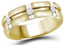 Genuine 0.25 CTW Diamond Ladies Ring 10KT Yellow Gold - GD109600-REF#67A5X